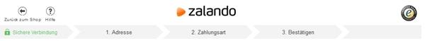 Die Bestellschritte bei Zalando