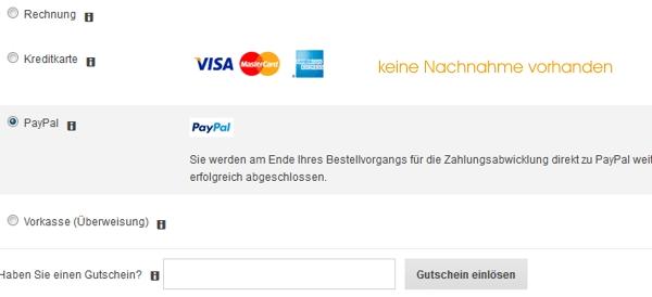 Zahlungsarten bei Zalando
