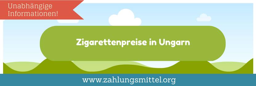 Preise für Zigaretten in Ungarn